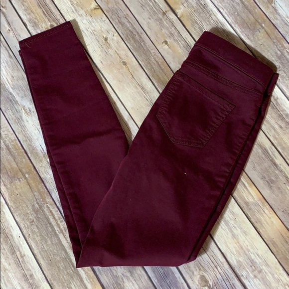 No Boundaries Pants - 🎉SALE NWOT Skinny Stretch Pants Burgundy SZ - 3-5